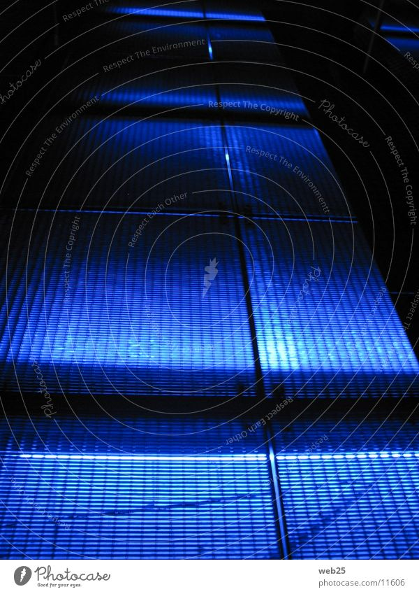 Blue Colour Dark Lanes & trails Architecture Footbridge Grating