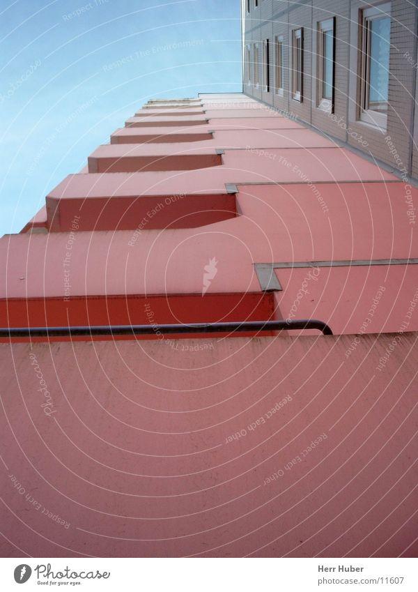 Sky Blue Architecture Pink High-rise Hamburg Balcony Eimsbüttel