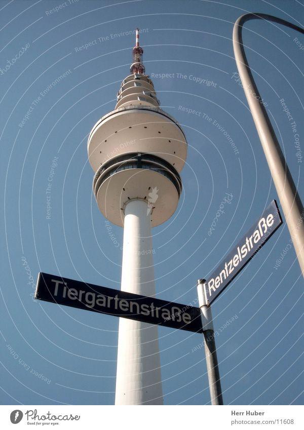 Radio Tower Hamburg Transmitting station Architecture Heinrich Hertz Sky Blue