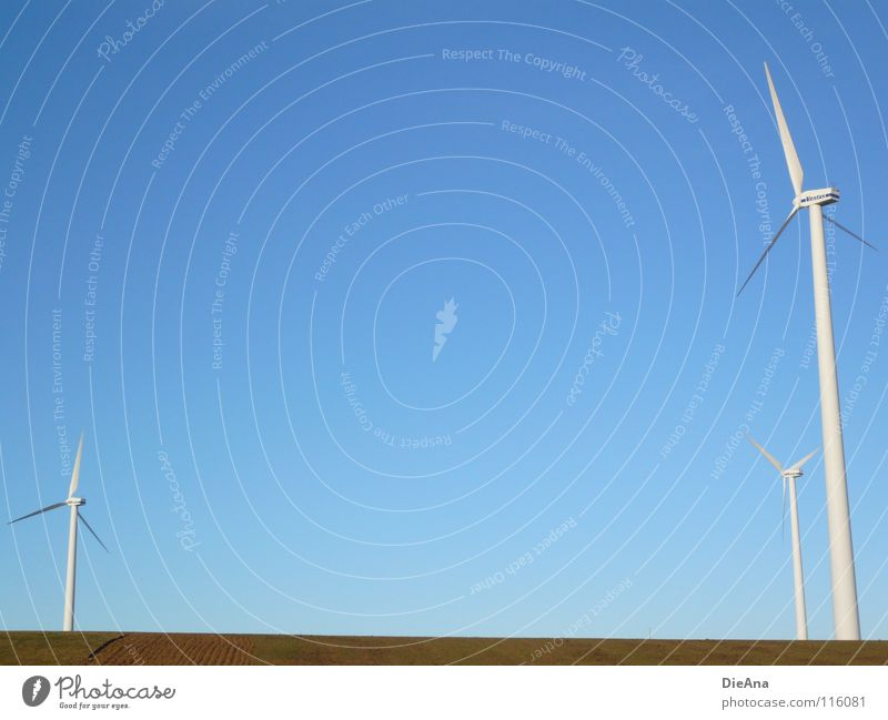 energy Winter Energy industry Technology Renewable energy Wind energy plant Environment Nature Landscape Beautiful weather Field Large Cold Modern Provision