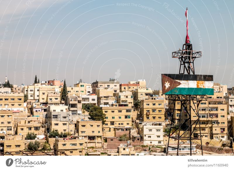 city roofs Amman Jordan Asia Town Capital city Downtown Old town Skyline Populated Overpopulated House (Residential Structure) High-rise Tower