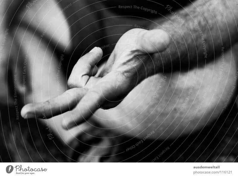 1+1+1=3 Hand Masculine Emotions Black & white photo Human being Detail Parts of body Available Light Exterior shot