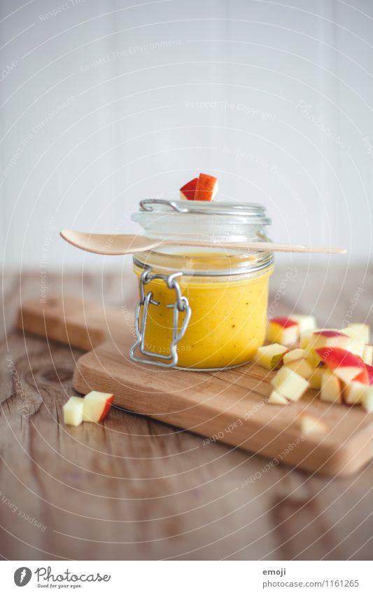 Pumpkin-Apple-Soup Fruit Nutrition Vegetarian diet Slow food Crockery Fresh Healthy Delicious Colour photo Interior shot Deserted Copy Space top