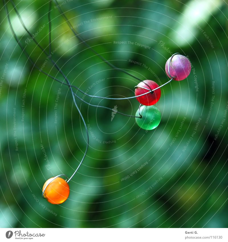Green Red Feasts & Celebrations Orange Art Violet Jewellery Pearl Wire Motionless Fastening Arts and crafts  Attach Wind chime