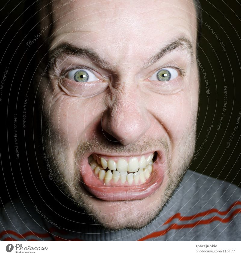 Human being Joy Face Anger Evil Freak Aggravation Aggression Portrait photograph Redneck Heartless Beast Unfair Tough guy Choleric Person