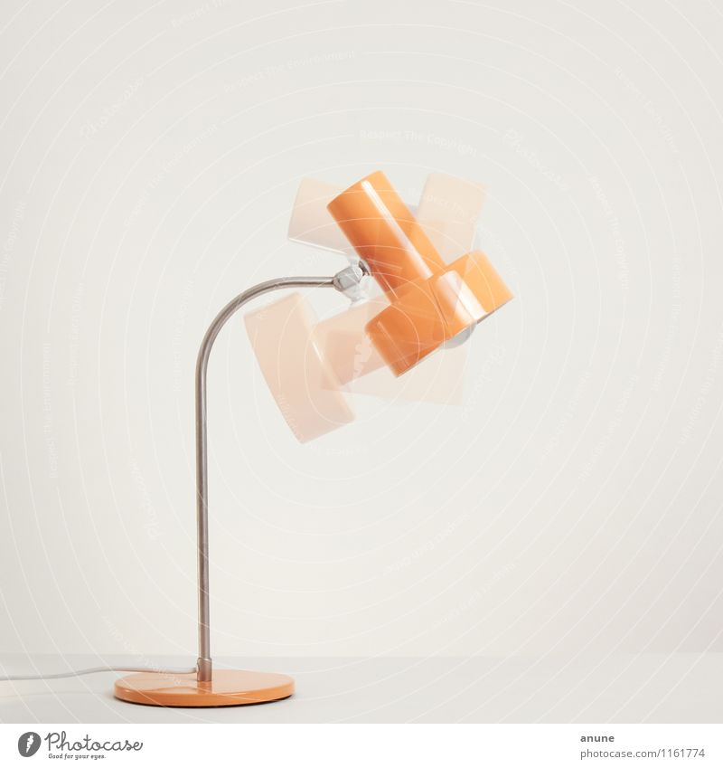 DDR lamp in motion Style Design Living or residing Flat (apartment) Interior design Decoration Lamp Technology Metal Hip & trendy Historic Retro Orange Energy