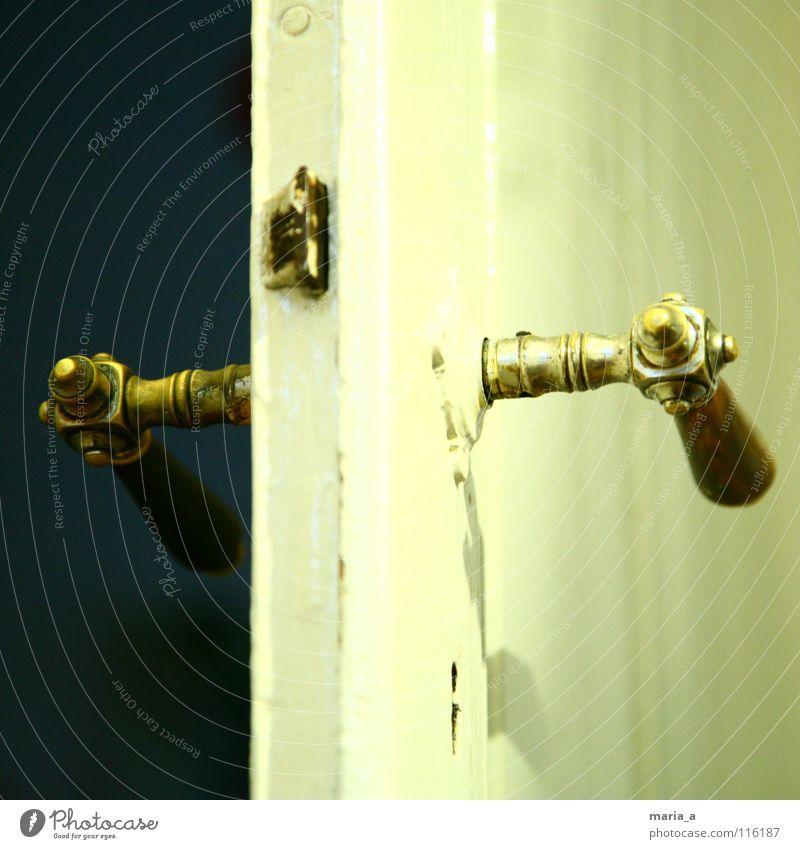 Old Dark Wood Bright Door Broken Painting (action, work) Catch Castle Positive Key Expectation Door handle Close Insulation Pushing