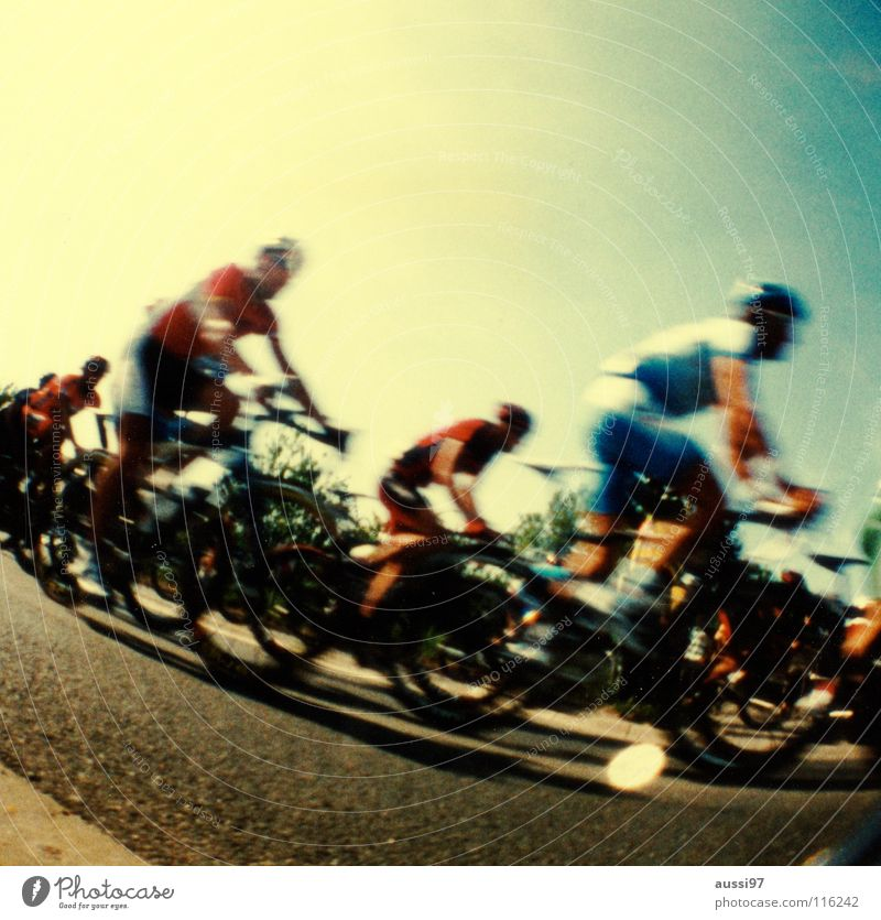 Sports Playing Bicycle Sports team Traffic infrastructure Vacation & Travel France Cycling Racing sports Mountain bike Cycling tour Excursion Lomography