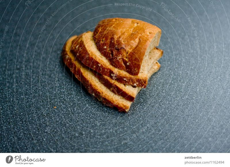 sliced bread Bread Sandwich Healthy Eating Dish Food photograph Dry Stack Carbohydrates Baker Baked goods Heart Heart-shaped Nutrition Full Appetite Copy Space