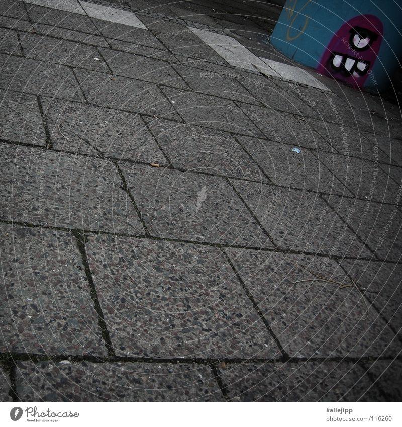 - • ( Pacman Spray Comic Street art Daub Sidewalk Gloomy Ghetto Bathroom Deprived area Monster Zombie Trash Scrap metal Graffiti Mural painting game Art spades