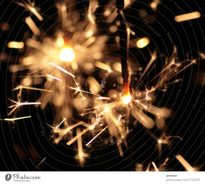 Christmas & Advent Joy Black Yellow Lamp Dark Party Bright Feasts & Celebrations Glittering Blaze Fire New Year's Eve Firecracker Burn Glow