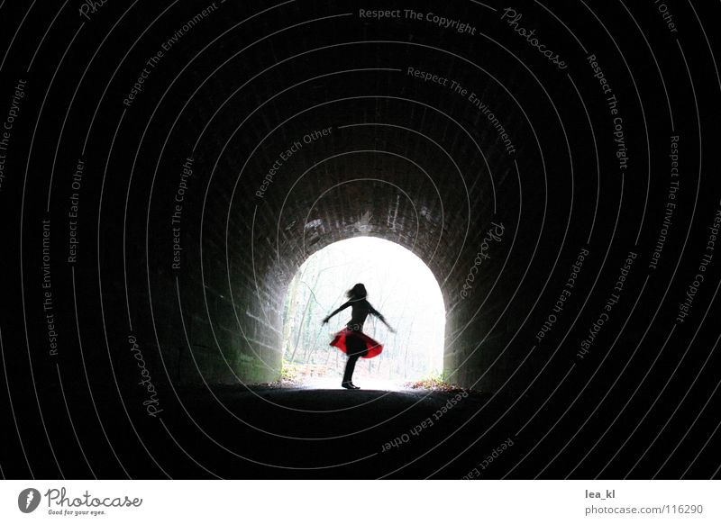 Girl Joy Life Dark Movement Dance Flying Hope Tunnel Rotate Rotation