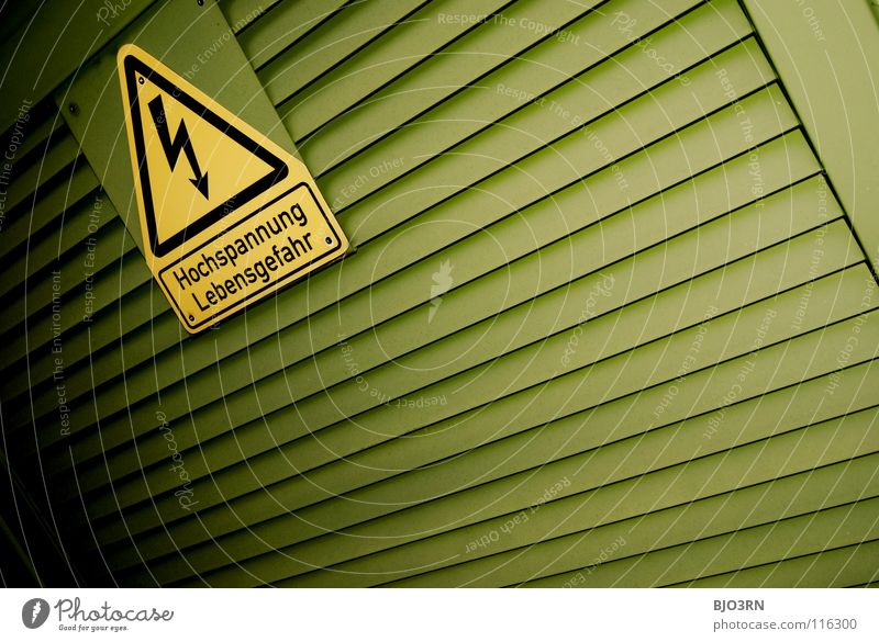 Green Yellow Signs and labeling Energy industry Electricity Dangerous Threat Lightning Signage Symbols and metaphors Warning label Graphic Caution Electronic