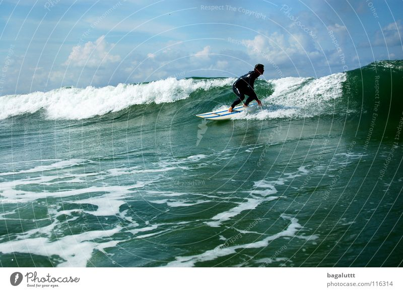 northsea Surfboard Extreme Waves Ocean Aquatics Horizon Coast Beach Vacation & Travel Green White Mystic Environment Emotions Refreshment Clouds Moody