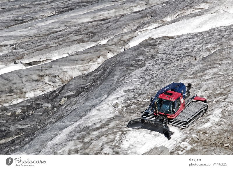 glacier caterpillar Glacier Gray White Slope Switzerland Summer Mountain Snow Ice Summer. massive Ice covered Andermatt gemstick