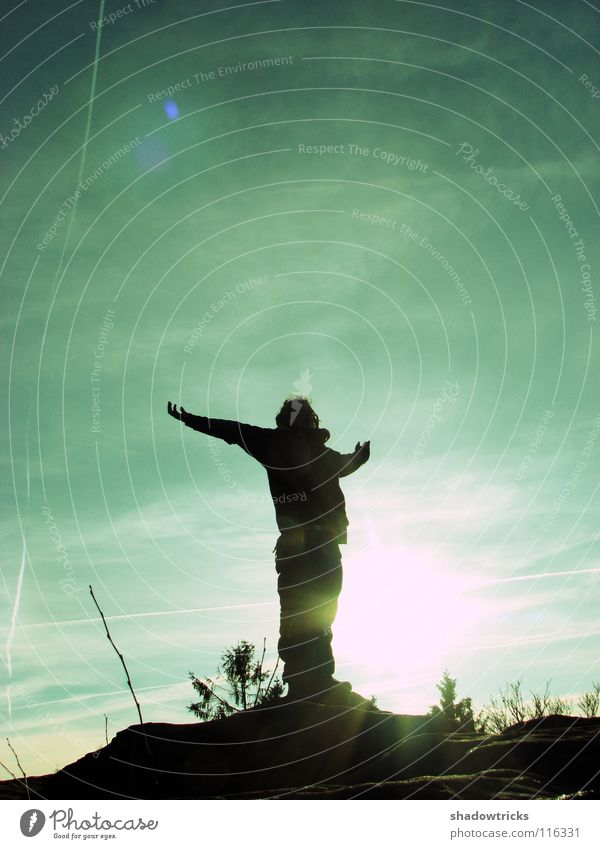 Human being Sky Nature Sun Mountain Freedom Wild animal Natural Perspective Hill Pure Dreadlocks