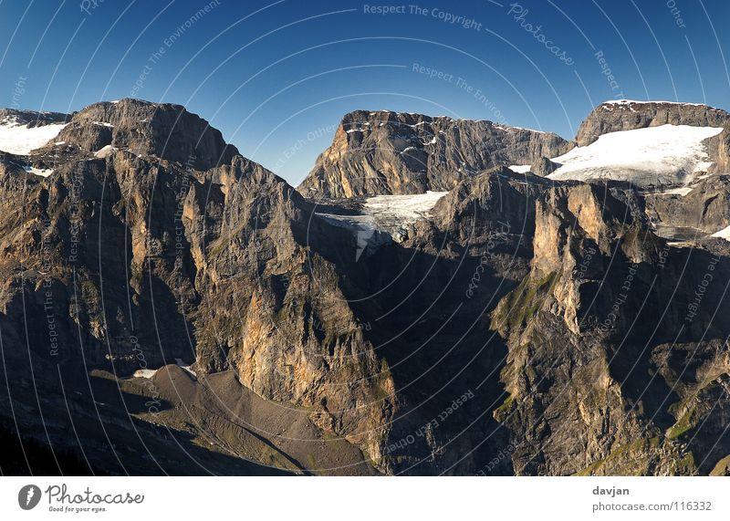 White Snow Mountain Gray Ice Switzerland Slope