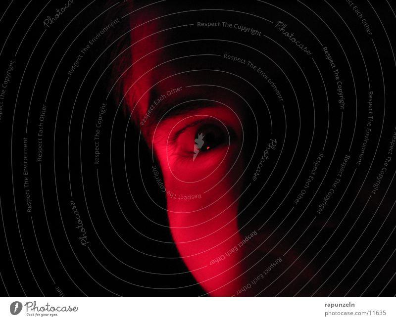 Red glances Pupil Dark Man Eyes Traffic light Shadow