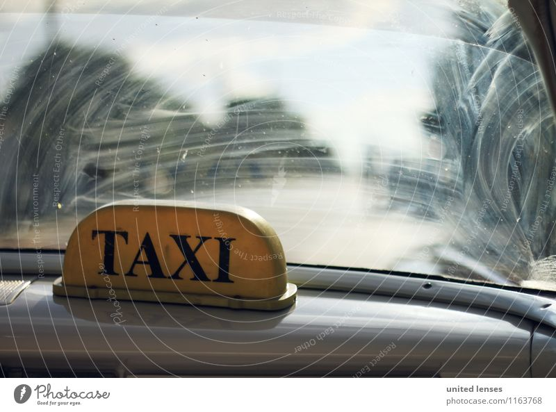 FF# Taxi Taxi Art Esthetic Taxidriver Taxi rank Wanderlust Car Window Signs and labeling Colour photo Interior shot Experimental Abstract Structures and shapes