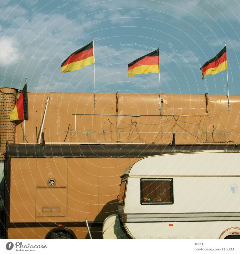Vacation & Travel Window Brown 3 Flag Cable Living or residing 4 Event German Flag Hide Mobility Camping Cozy Beautiful weather Flexible