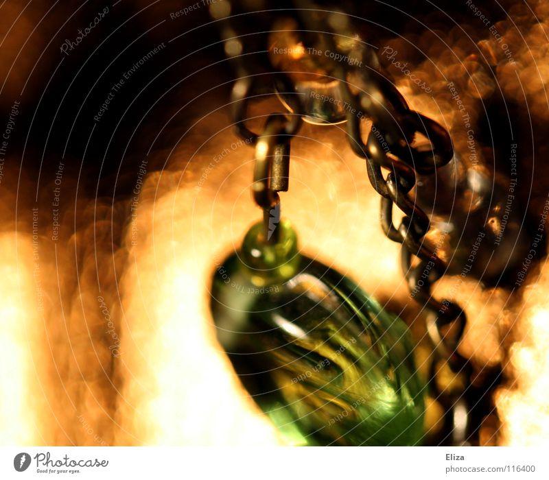 Beautiful Green Lamp Warmth Glittering Gold Near Physics Luxury Jewellery Cute Pearl Chain Necklace Embellish Earring