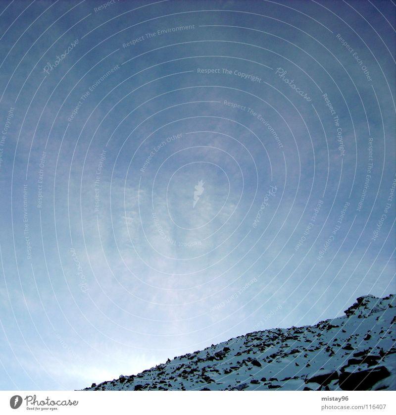 mountain Sky Calm Winter Joy Peace blue Sun Lighting happiness Nature