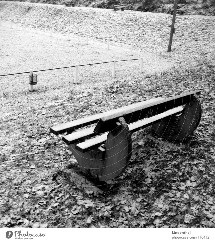 winter break Stands Winter Sporting grounds Meadow Wastepaper basket Sideline Cold Leaf Playing Bench Corner spectator's bench Snow unplayable forum Handrail