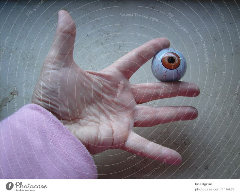 Hand Eyes Fingers Transience To hold on Obscure Pupil Splay