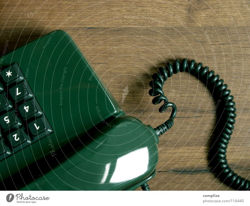 Old Green Tree Wood Brown Flat (apartment) Wait Telephone Retro Digits and numbers Cable Past Connection Services Mobility Seventies