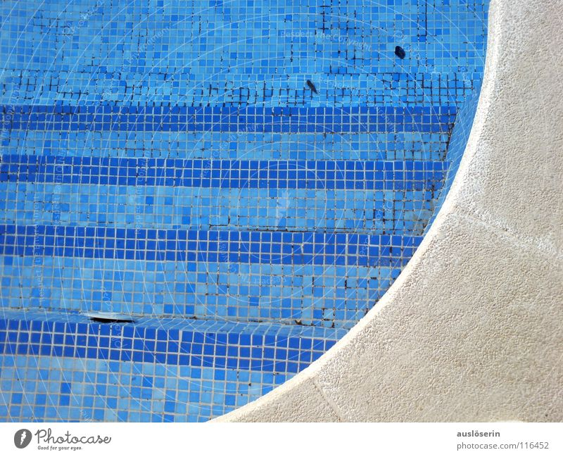 pool Swimming pool Majorca Vacation & Travel Wet Edge Water Detail Blue Stairs Arch Structures and shapes