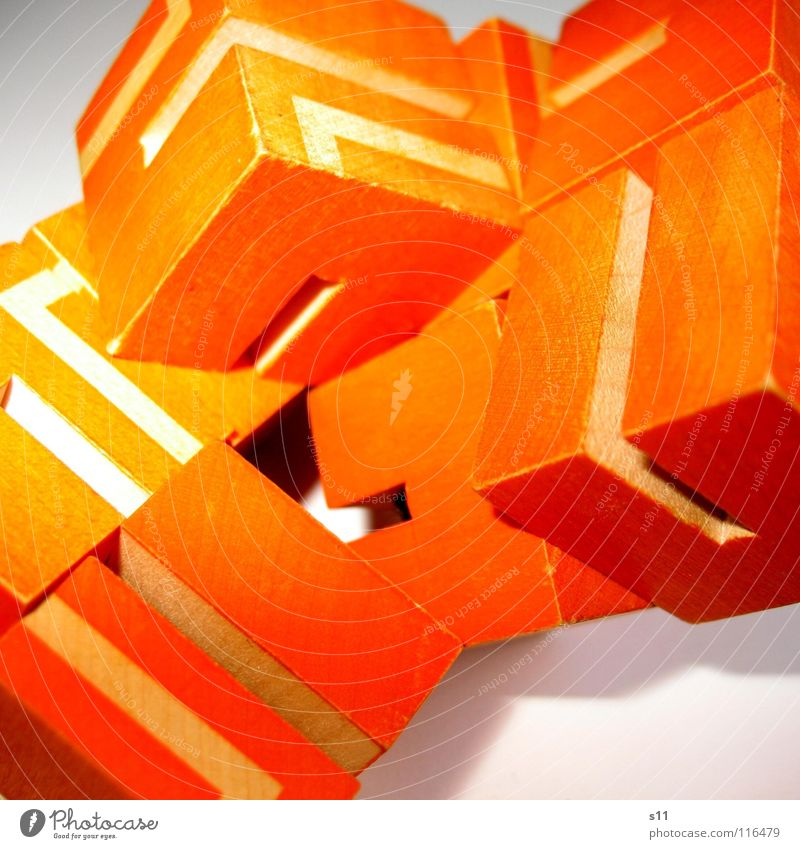 White Playing Lanes & trails Line Orange Multiple Concentrate Cube Puzzle Heap