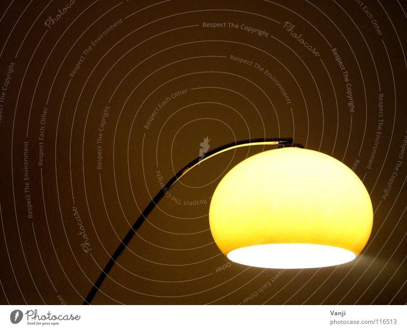 Yellow Lamp Dark Bright Room Retro Round Decoration Living or residing Sphere Interior design Furniture Cozy Household