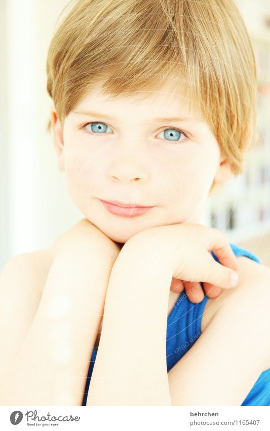 Child Blue Beautiful Hand Face Eyes Love Boy (child) Happy Hair and hairstyles Family & Relations Head Dream Contentment Infancy Blonde