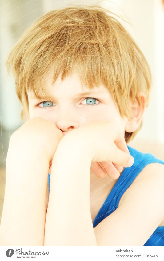 Child Blue Beautiful Hand Face Eyes Love Boy (child) Hair and hairstyles Family & Relations Head Contentment Infancy Blonde Skin Arm