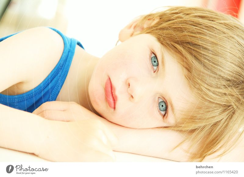 Child Blue Beautiful Hand Face Eyes Love Boy (child) Family & Relations Hair and hairstyles Head Dream Body Blonde Infancy Arm