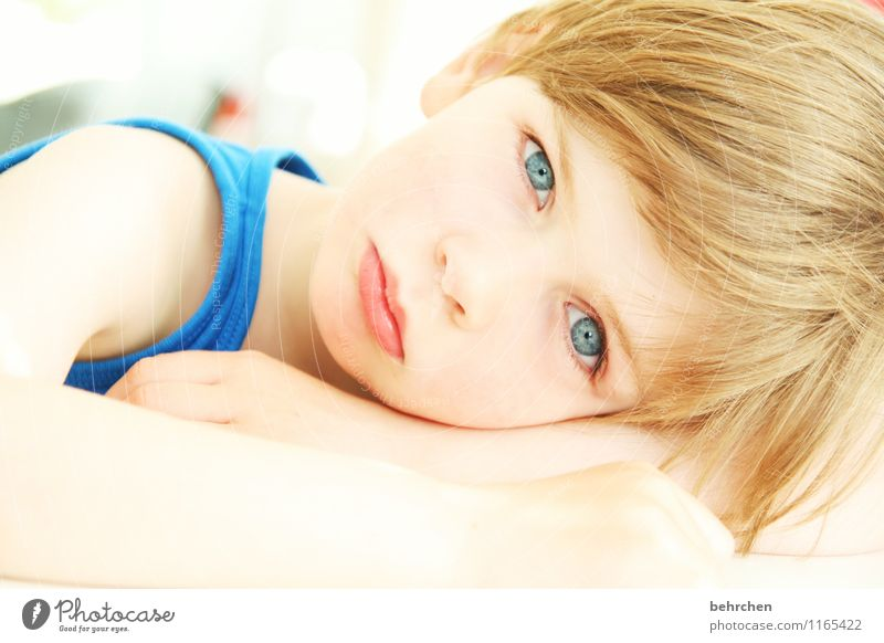 Child Blue Beautiful Face Eyes Love Boy (child) Hair and hairstyles Head Dream Infancy Blonde Skin Arm Mouth Observe