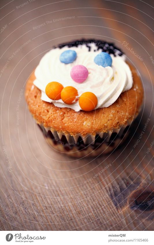 Muffin Man II Food Dessert Candy Art Esthetic Baked goods Face Beautiful Sweet Sweetener Delicious Rich in calories Colour photo Subdued colour Multicoloured