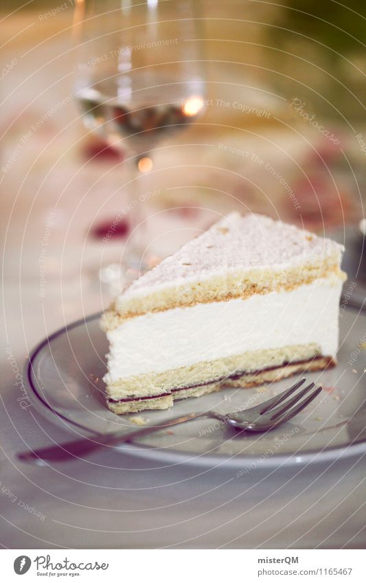 Wedding cake. Food Esthetic Gateau Cake Pastry fork To have a coffee White wine Whitewine glass Coffee break Coffee table Delicious Rich in calories Unhealthy