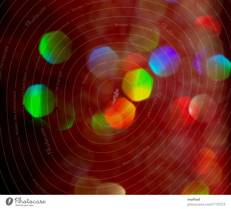 Green Blue Red Yellow Colour Glittering Multicoloured Reflection Point Light Rainbow
