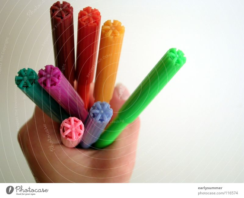 Hand Green Blue Red Yellow Colour Orange Work and employment Pink Fingers To hold on Painting (action, work) Violet Write Many Creativity