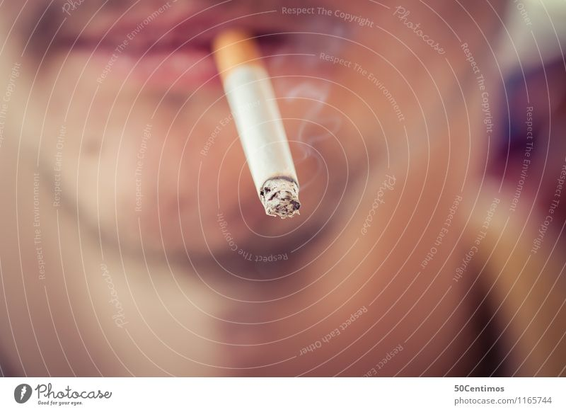 Smoking young man Lifestyle Healthy Health care Intoxicant Masculine Young man Youth (Young adults) Man Adults Face Mouth 1 Human being 18 - 30 years