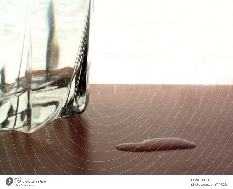 Missing #1 Whiskey Side Spill Wood Table Nutrition Glass Water Drops of water