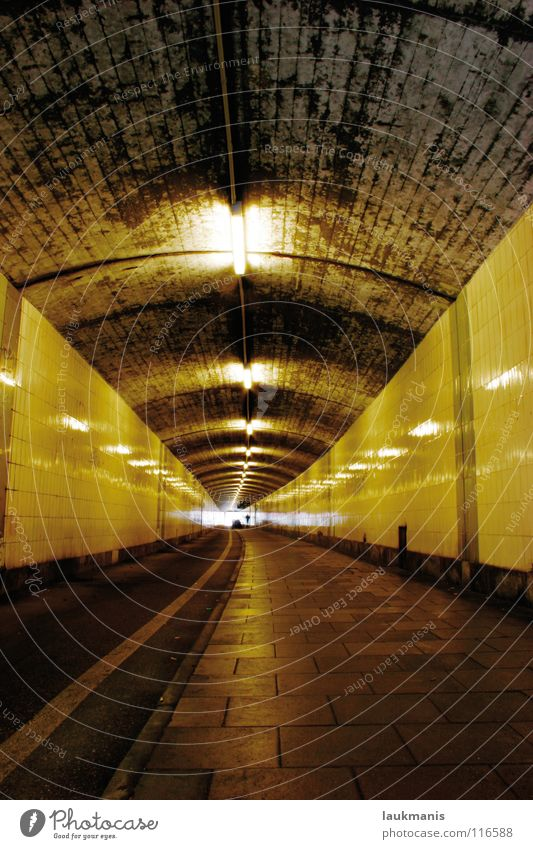 Leuchtenberg underpass Tunnel Light Dark Flow Dirty Loneliness Architecture luminous mountain Underpass S-Bahn underpass Rough