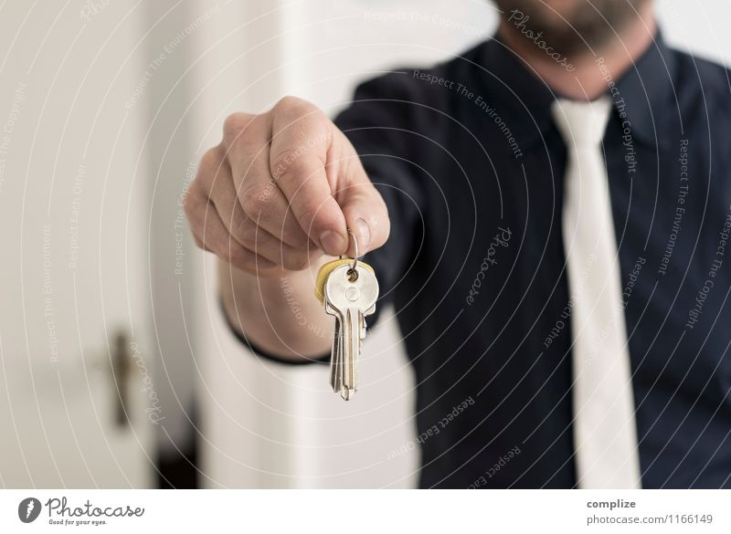 Human being Man House (Residential Structure) Adults Interior design Building Flat (apartment) Living or residing Shopping Construction site Moving (to change residence) Luxury Lock Key Craftsperson Financial Industry