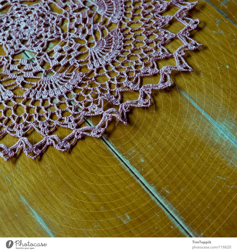 Wood Art Pink Table Decoration Kitchen Living room Blanket Sewing thread Wood grain Old fashioned Arts and crafts  Wooden table To have a coffee Crochet