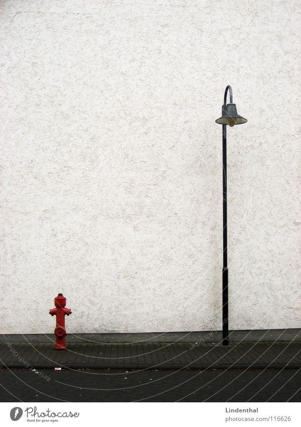 White Red Street Lamp Wall (building) Transport Sidewalk Street lighting Alley Fire hydrant