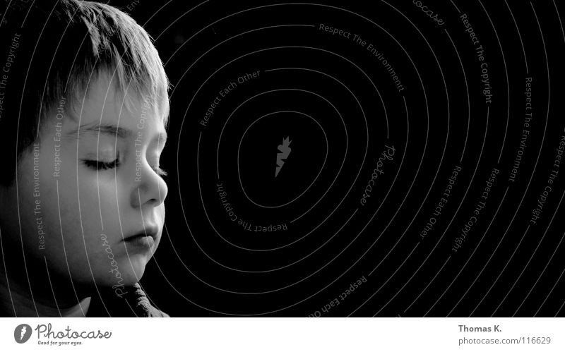 Child White Calm Black Boy (child) Happy Dream Graffiti Peace Shows Listening Student To enjoy