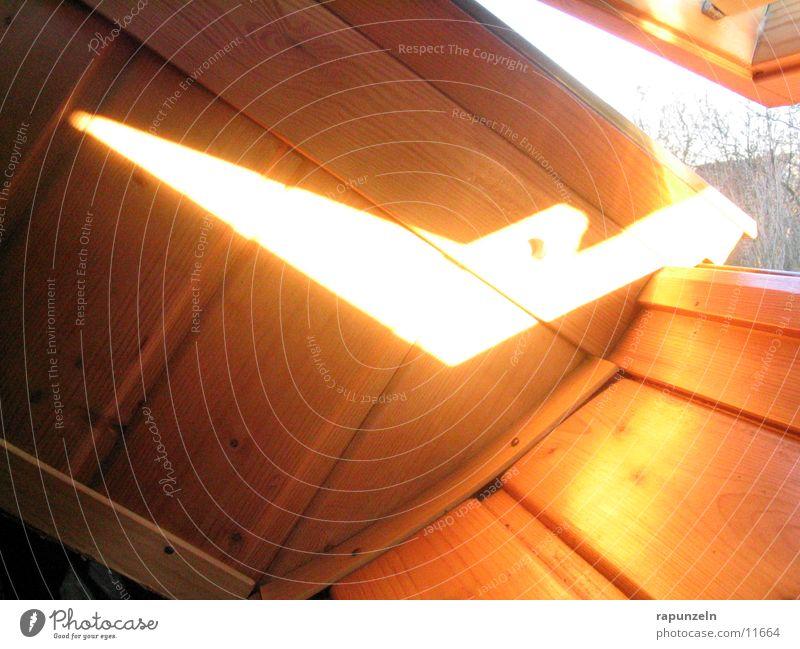 A crack of sun Window Skylight Roof Wood Wooden board Column Light (Natural Phenomenon) Sun