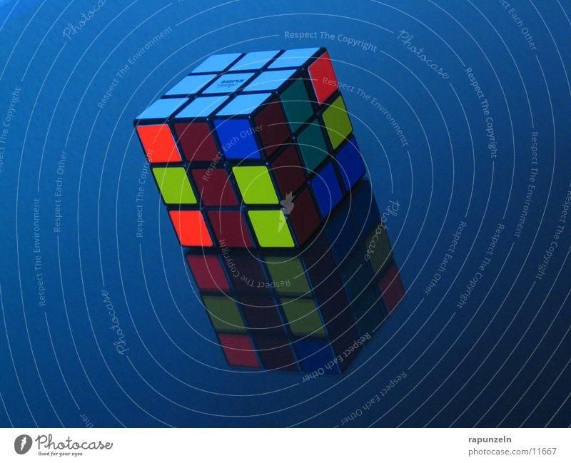 Rubik's in Blue Progress Mirror Things rubic Rubiks Cube fiddly