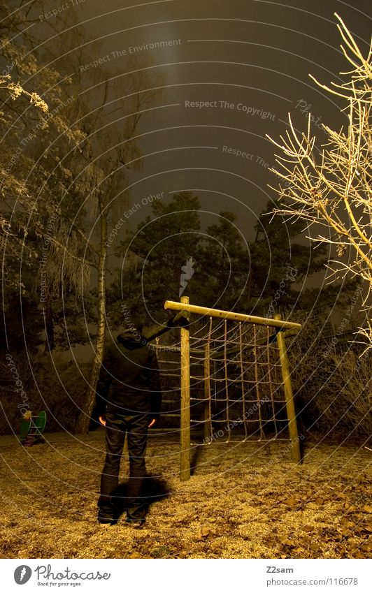 Human being Nature Tree Winter Black Yellow Street Dark Cold Lighting Fear Stand Bushes Creepy Frozen Transparent